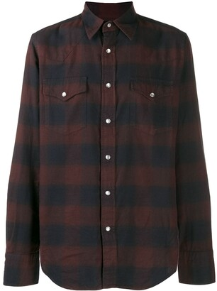 Tom Ford checked pointed collar shirt