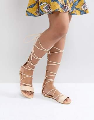 Asos DESIGN FLAMING Tie Leg Sandals