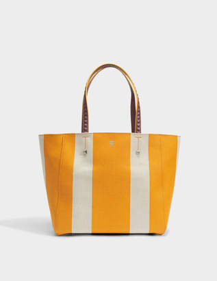 MCM Shopper Bag in Exotic Yellow Bonded Canvas