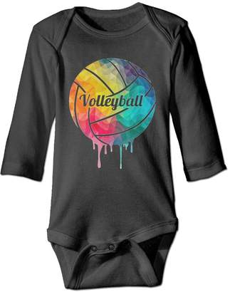 WAGH1NS Volleyball Bodysuits Infant Boys Girls Onesies Long Sleeve Jumpsuits for Baby