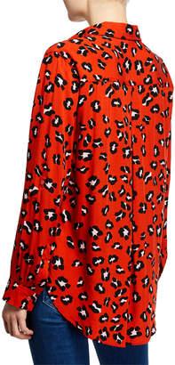 Velvet Heart Elisa Leopard Print Button-Down Shirt