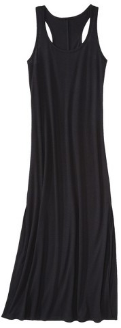 Xhilaration Junior's Racerback Maxi Coverup Swim Dress -Black
