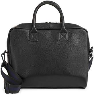 Topman Faux Leather Laptop Bag