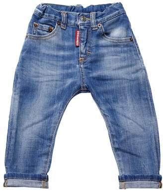 DSQUARED2 Faded Stretch Denim Jeans
