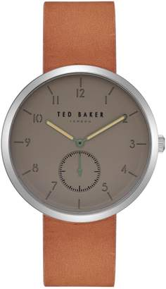 Ted Baker Josh Stainless Steel Leather-Strap Watch
