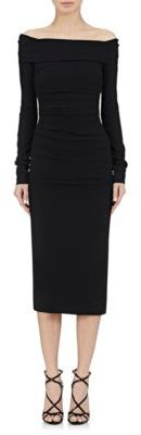 Dolce & Gabbana Women's Ruched Off-The-Shoulder Dress-BLACK $2,445 thestylecure.com