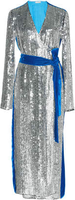 ATTICO Sequined Velvet Robe Dress