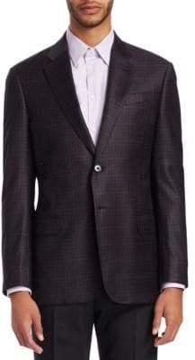 Emporio Armani G-Line Plaid Wool Sportcoat