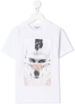 Neil Barrett Kids 'Wolf Man' print T-shirt