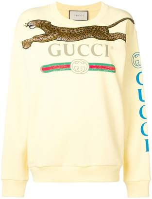 Gucci logo printed tiger sweatshirt