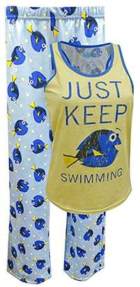 Briefly Stated Finding Dory Just Keep Swimming Capri Tank Plus Size Pajama for women (2X)