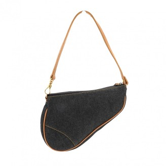 Christian Dior Vintage Saddle Blue Denim - Jeans Handbag f8c65bb0f3024