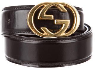 Gucci Leather Logo Belt $125 thestylecure.com