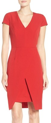 Women's Adrianna Papell Stretch Crepe Sheath Dress $120 thestylecure.com