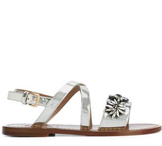 Marni floral crystal sandals