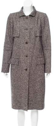 Oscar de la Renta Camel & Wool-Blend Structured Coat