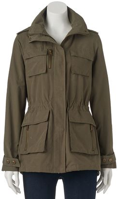 Juniors' Madden Girl Drawstring Zip-Up Utility Jacket $80 thestylecure.com