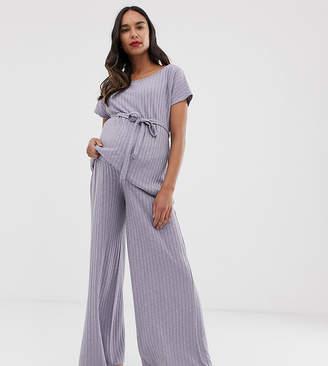 Asos DESIGN Maternity mix & match lounge wide leg trouser