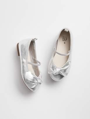 Gap Metallic Bow Ballet Flats