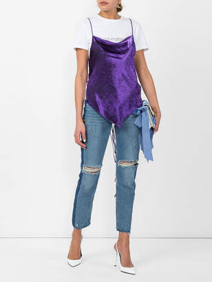 Heron Preston High rise ripped jeans
