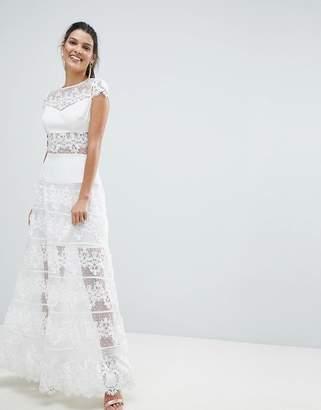 Bronx And Banco Lace Panel Maxi Dress