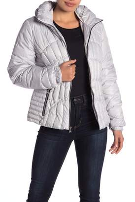 GUESS Zip Front Puffer Jacket