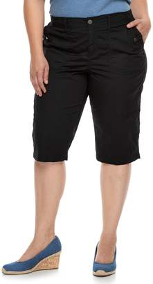 Sonoma Goods For Life Plus Size SONOMA Goods for Life Ultra Breathable Poplin Skimmer Shorts