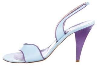 Emilio Pucci Leather Strap Two-Tone Sandals
