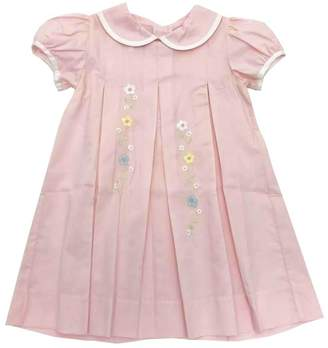 Lullaby Set Girls Pink-Pleated-Floral-Embroidery Dress