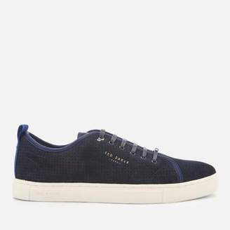 Ted Baker Men's Kaliix Perforated Suede Low Top Trainers