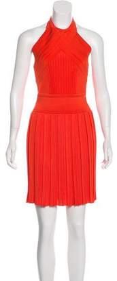 Balmain Pleated Halter Dress w/ Tags