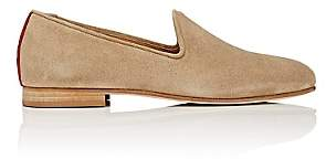 Del Toro Men's Prince U Suede Venetian Slippers - Beige, Tan