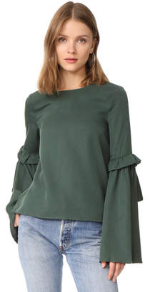 J.O.A. Flare Blouse $75 thestylecure.com