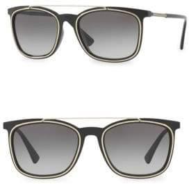 Versace 56MM Wayfarer Gradient Sunglasses