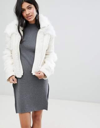 Deby Debo Upper Mixed Faux Fur Jacket