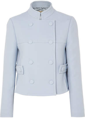 Bottega Veneta Double-breasted Wool-blend Drill Blazer - Blue