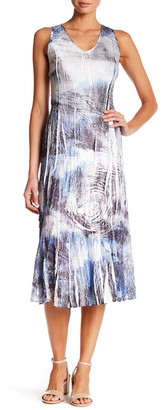 KOMAROV Midi Sleeveless Dress $278 thestylecure.com