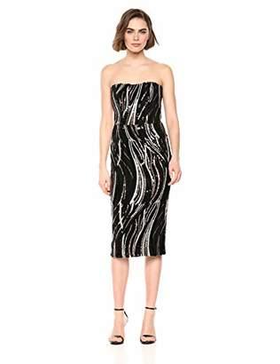 Dress the Population Women's Claire Strapless Sequin MIDI Sheath Dress,S