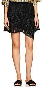Isabel Marant Women's Daley Eyelet Faux-Leather Miniskirt-Black