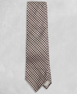1ddd3f7284f3 Brooks Brothers Golden Fleece Brown Gingham Tie