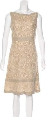 Valentino Macramé Knee-Length Dress