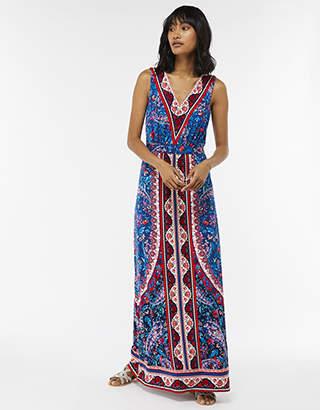 Monsoon Amanda Print Shorter Maxi Dress