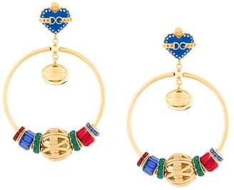 Dolce & Gabbana Sacred Heart hoop earrings