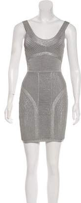 Herve Leger Textured Bodycon Dress
