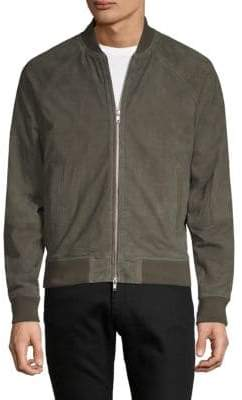 Saks Fifth Avenue Raglan-Sleeve Suede Bomber Jacket