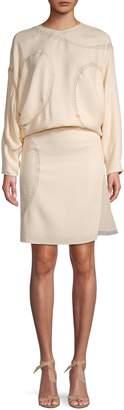 Chloé Silk-Blend Blouson Dress