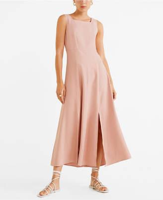MANGO Side Slit Long Dress