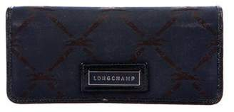 Longchamp Leather-Trimmed Monogram Wallet