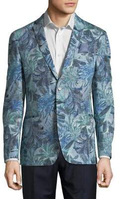 Tallia Orange Slim-Fit Floral Blazer