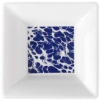 "Caskata 5"" Marbled Trinket Tray - White/Blue"